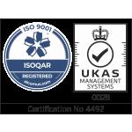 Cert No. 4492 ISO 9001 logo
